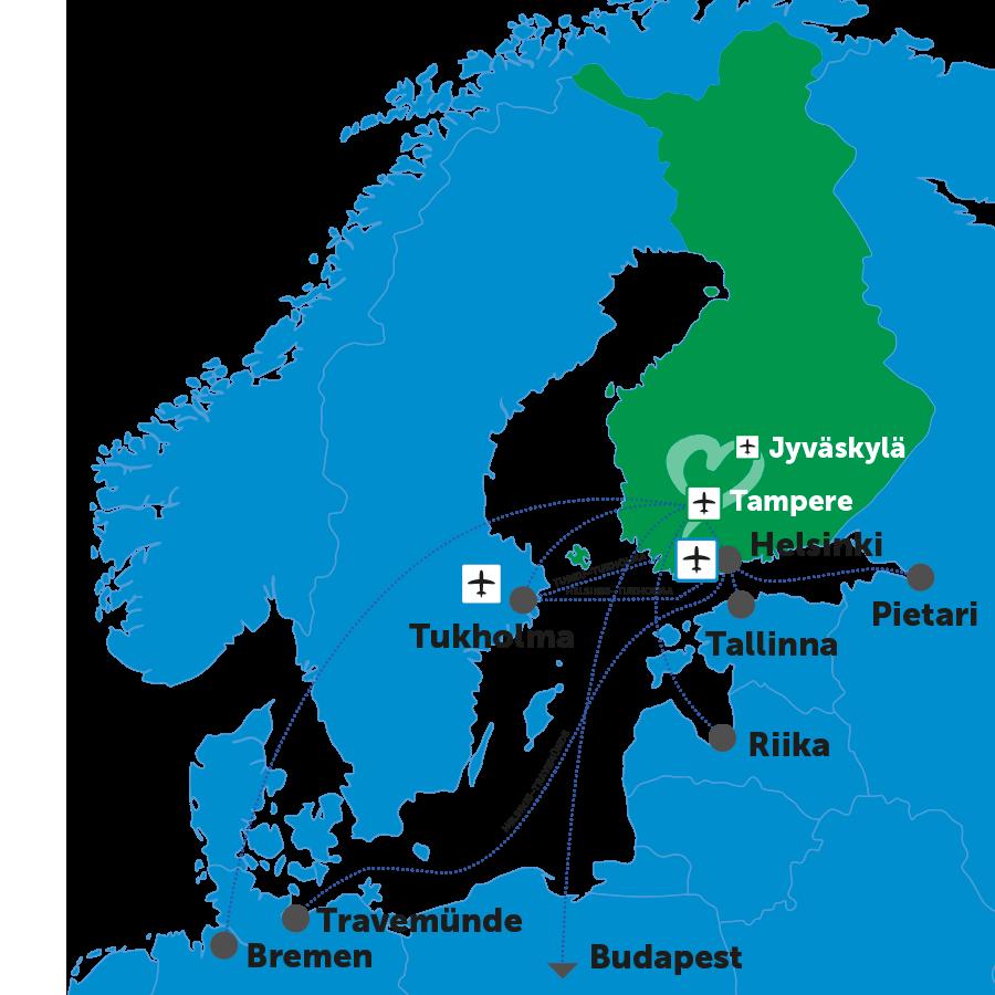 Löydä tiesi Suomen Sydämeen