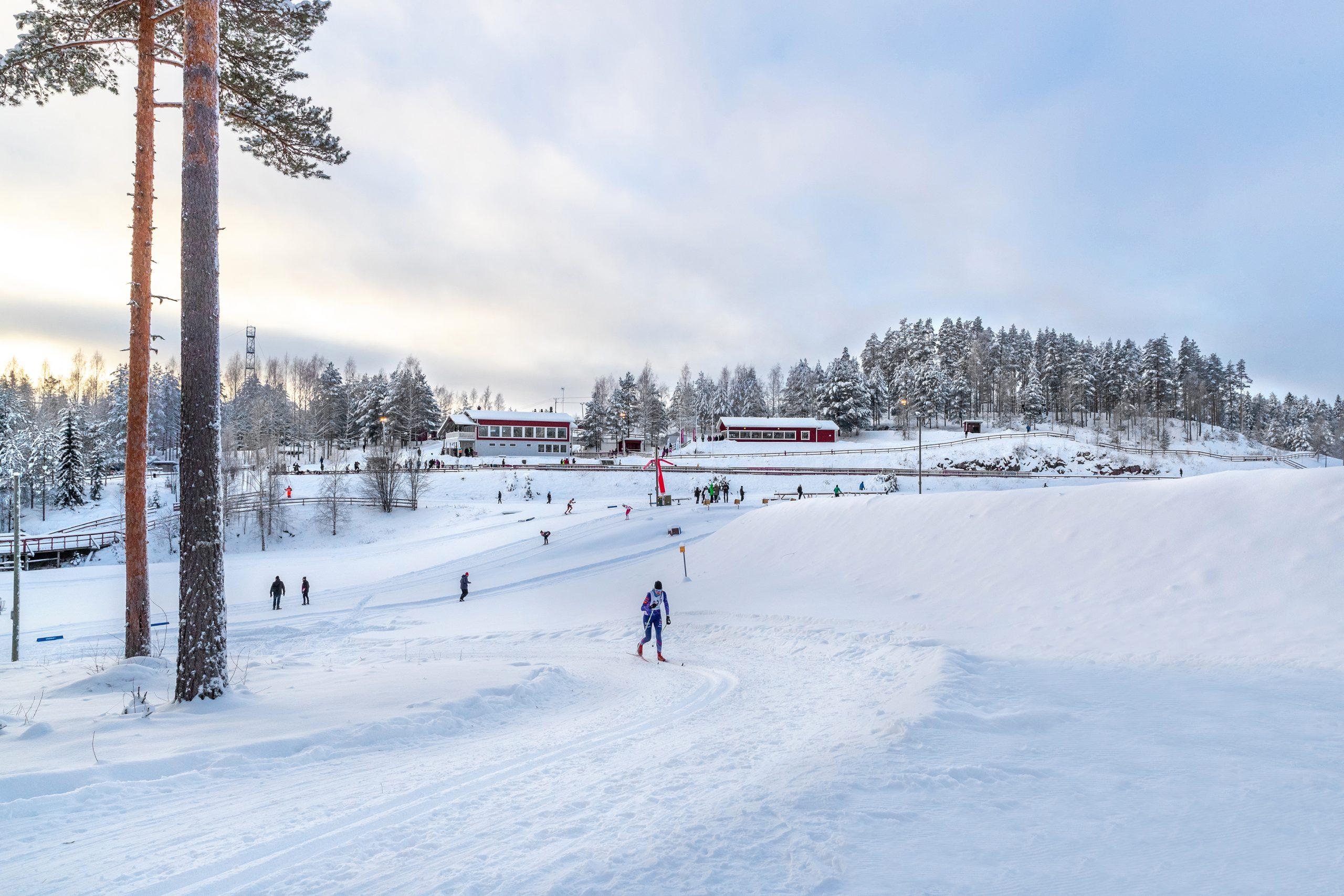 Liikuntapuiston alueen talvikuva